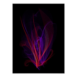 Flame frame poster