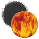 flame fridge magnet
