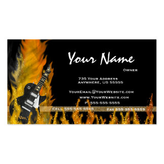 Flame Guitar Business Cards