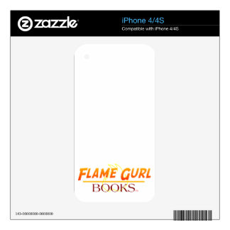 Flame Gurl Books iPhone 4S Decal