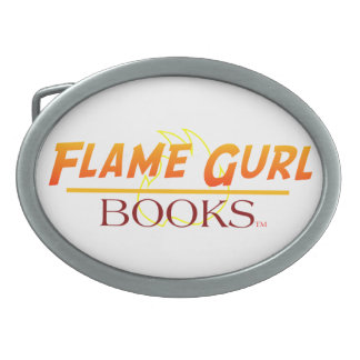 Flame Gurl Books Oval Belt Buckle