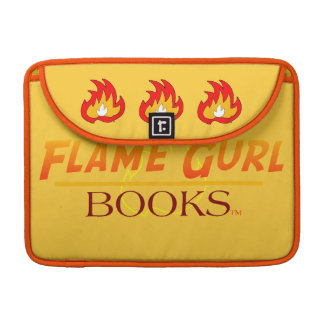 Flame Gurl Books Sleeve For MacBook Pro