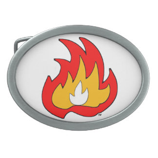 Flame Gurl Flame Oval Belt Buckle