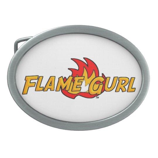 Flame Gurl Logo Belt Buckle