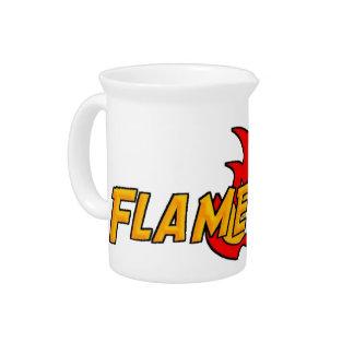 Flame Gurl Logo Beverage Pitcher