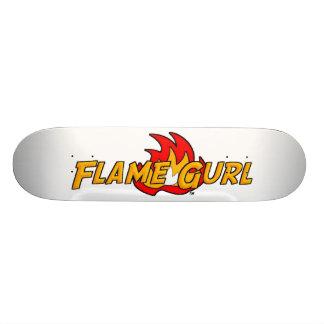 Flame Gurl Logo Skateboard Deck