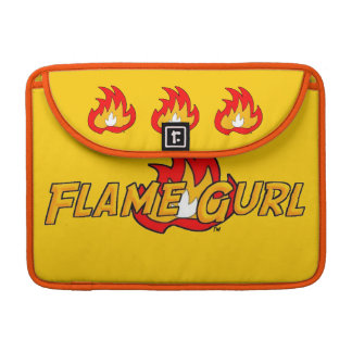 Flame Gurl Logo Sleeve For MacBook Pro