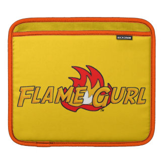 Flame Gurl Logo Sleeves For iPads
