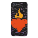 Flame Heart Case For iPhone 5