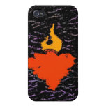 Flame Heart Cases For iPhone 4