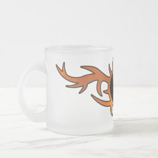 Flame Heart Tattoo 10 Oz Frosted Glass Coffee Mug