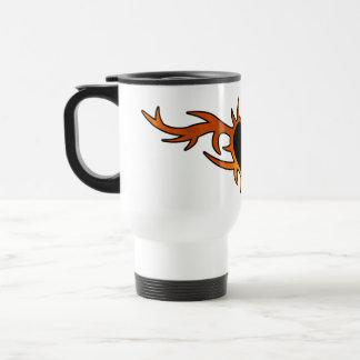 Flame Heart Tattoo Travel Mug