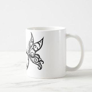 Flame Heart with Tribal Butterflies Mug