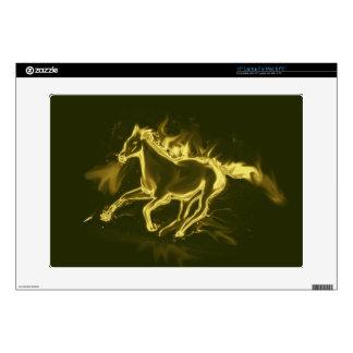 "flame horse, golden skins for 15"" laptops"