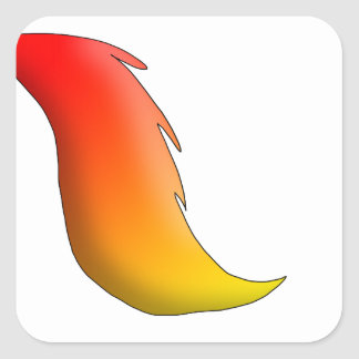 Flame Horse Tail Sticker