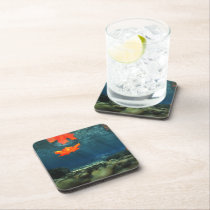 Flame in the Water Cork Coaster