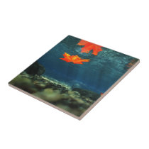 Flame in the Water Decorative Tile