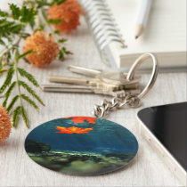 Flame in the Water Keychain