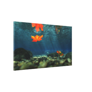 Flame in the Water Wrapped Canvas Canvas Prints