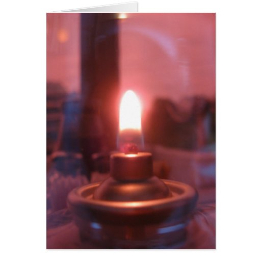Flame Inside of a Glass Jar Greeting Card