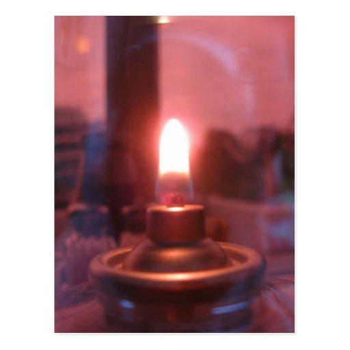 Flame Inside of a Glass Jar Postcard