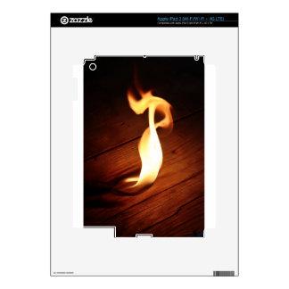 Flame. iPad 3 Decal