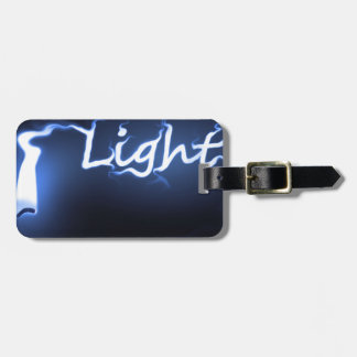Flame light concept. luggage tag