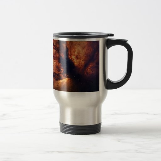 Flame nebula 15 oz stainless steel travel mug