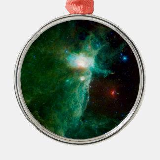 Flame Nebula NASA Metal Ornament