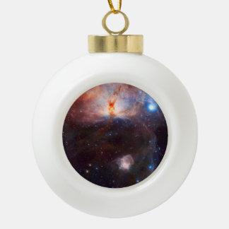 Flame Nebula Space Astronomy Ceramic Ball Christmas Ornament