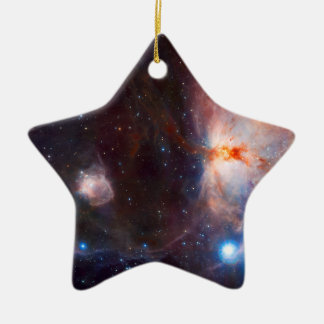 Flame Nebula Space Astronomy Ceramic Ornament