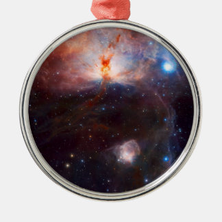 Flame Nebula Space Astronomy Metal Ornament