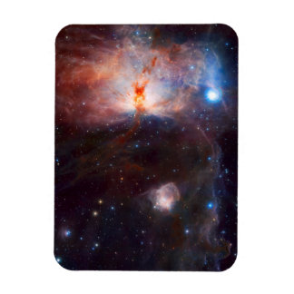 Flame Nebula Space Astronomy Rectangular Magnet