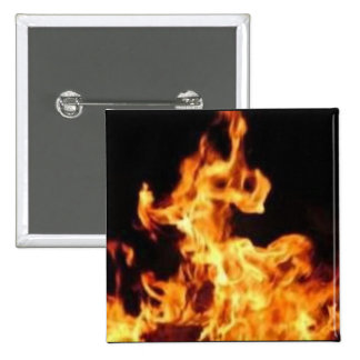 Flame novelty pinback buttons