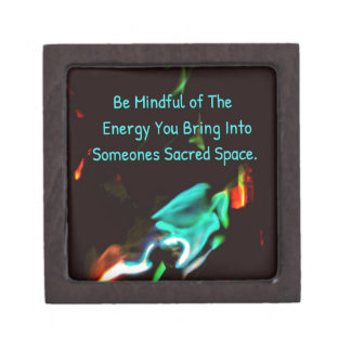 Flame of Energy Mindfulness Sacred Space Quote Jewelry Box
