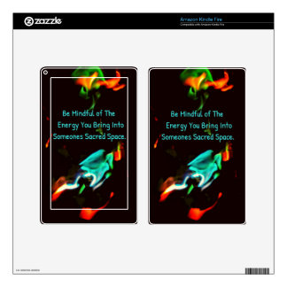 Flame of Energy Mindfulness Sacred Space Quote Kindle Fire Skin