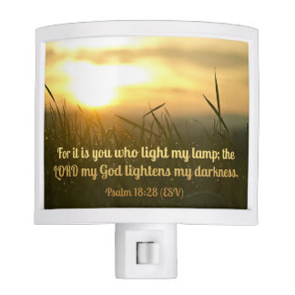 Flame of God - Psalm 18:28 Night Light
