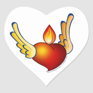 Flame of Love Heart Sticker