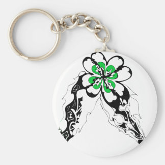 Flame of Luck Basic Round Button Keychain