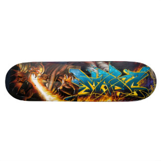 Flame On! in Durin's Dungeon - Street Art Sk8 Deck