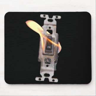 FLAME ON! Switch On Fire! Mouse Pad