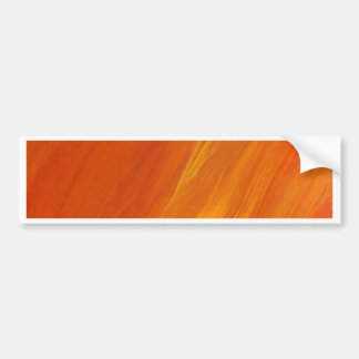 Flame Orange Yellow Gold Firethrower Flames Bumper Sticker
