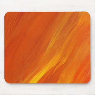 Flame Orange Yellow Gold Firethrower Flames Mouse Pad