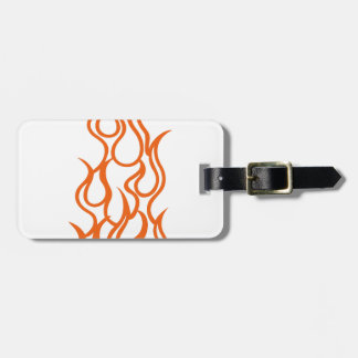 Flame Outline Luggage Tag