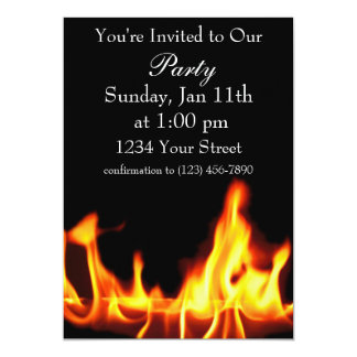 Flame party invite full