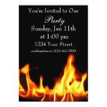 "Flame party invite full 5"" x 7"" invitation card"