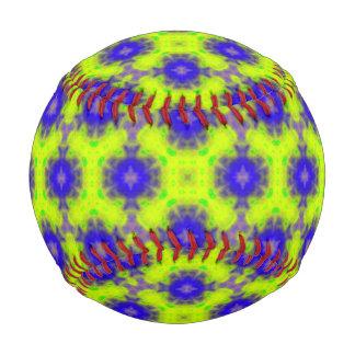 flame pattern blue yellow baseball
