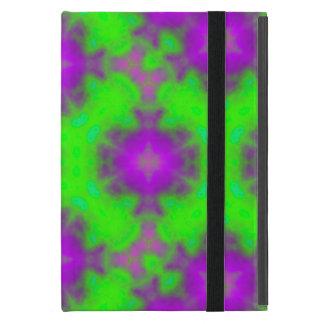flame pattern green purple iPad mini case