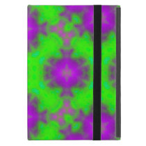 flame pattern green purple iPad mini cover