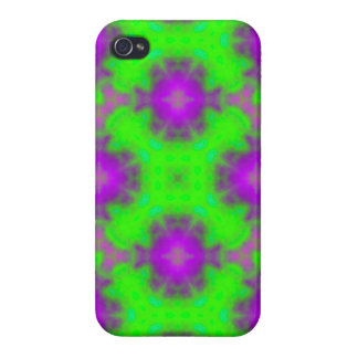 flame pattern green purple covers for iPhone 4
